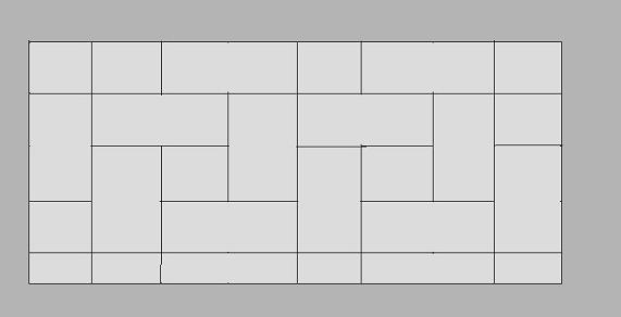 Kostka brukowa - Wiązanie prostokątne