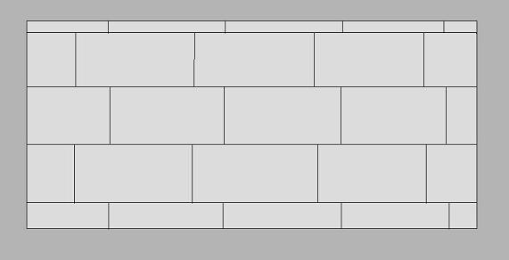 Kostka brukowa - Wiązanie rzędowe